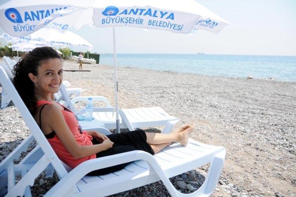 Antalya'da kadınlar plajı açıldı