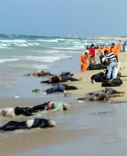 İnsanlık kıyıya vurdu