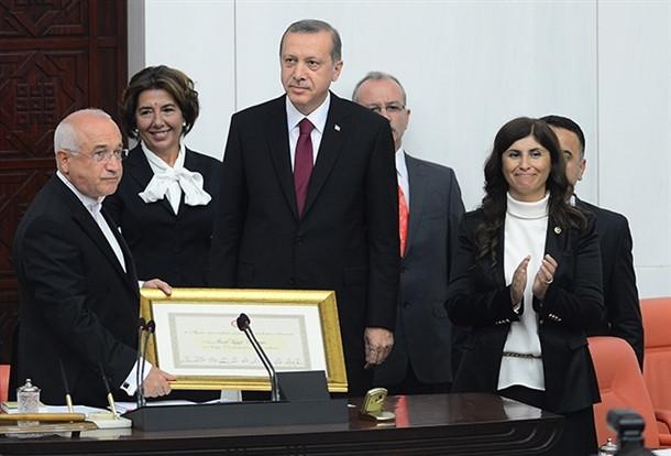 Kare kare Erdoğan'ın yemin etme anı