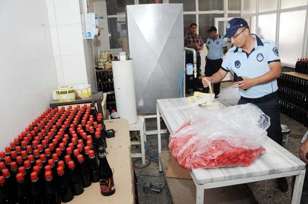 20 bin şişe sahte nar ekşisi ve sirke ele geçirildi