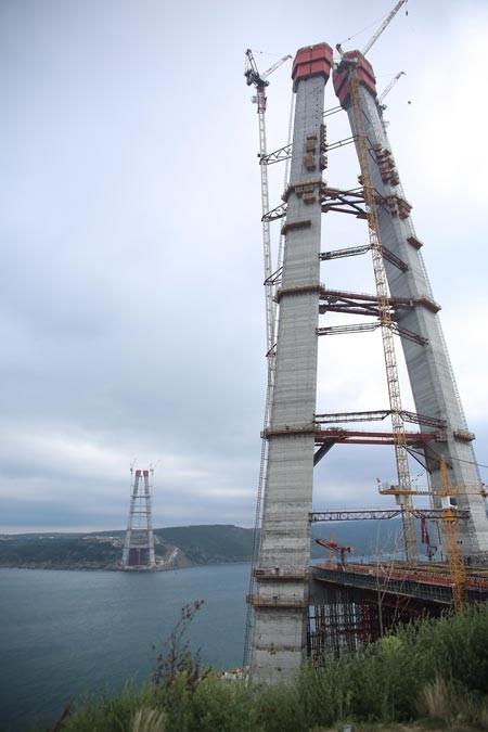3. Köprü'nün kulelerinde sona gelindi