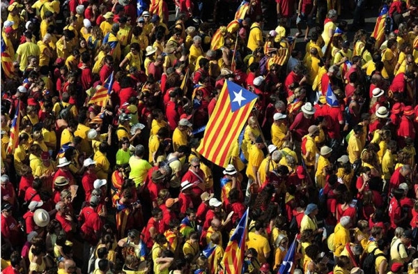 500 bin kişi 'bağımsızlık' diye bağırdı