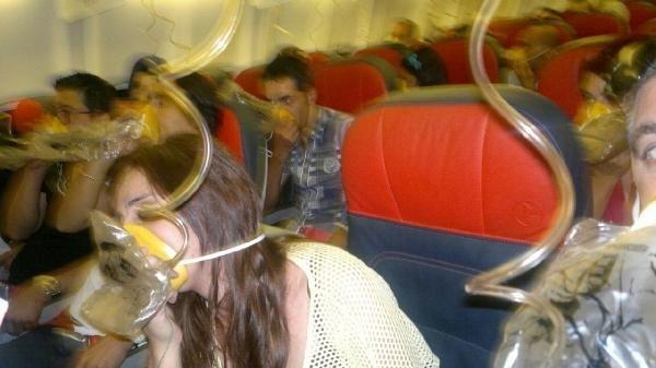 THY uçağında panik