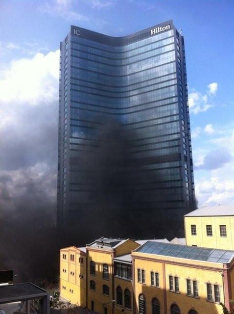 Hilton Oteli'nde yangın!