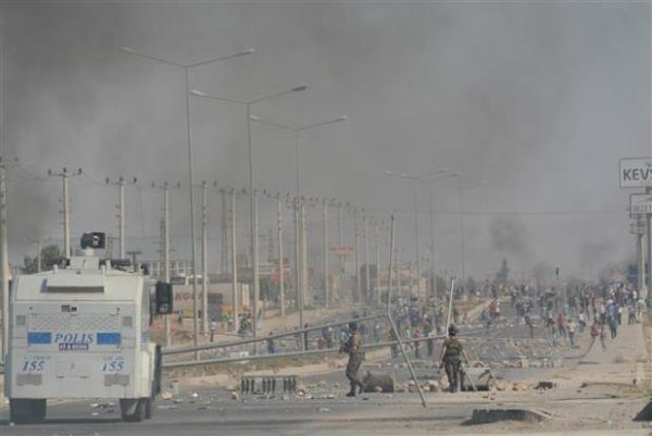 Mardin'de Kobani eylemi