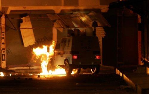 Gaziantep'te çocuk parkını yaktılar!
