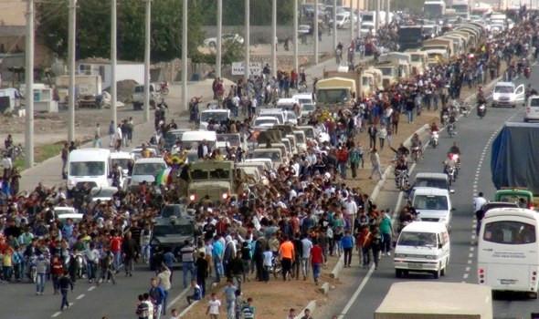 Erbil'den yola çıkan Peşmerge grubu Mardin'e ulaştı