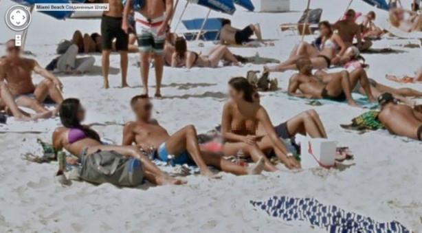Google kamerasına plajda yakalandılar