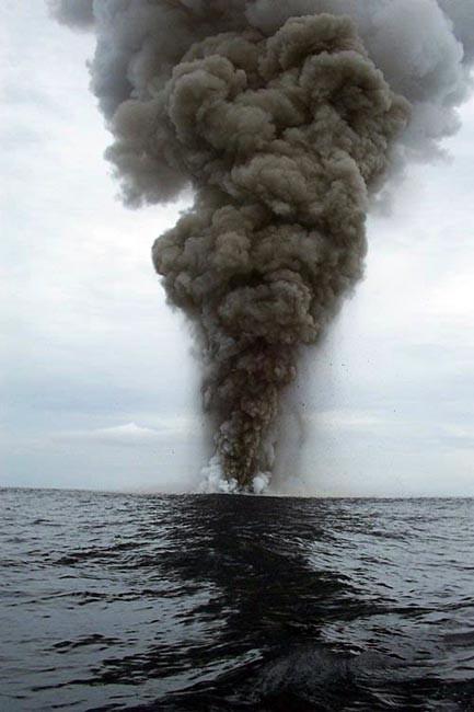 Bir adanın doğuşu böyle görüntülendi!