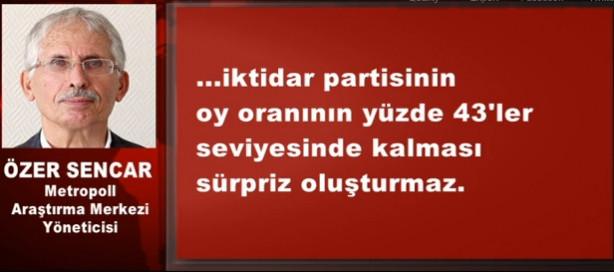 Genel seçim öncesi AKP'nin oyları düşüşte