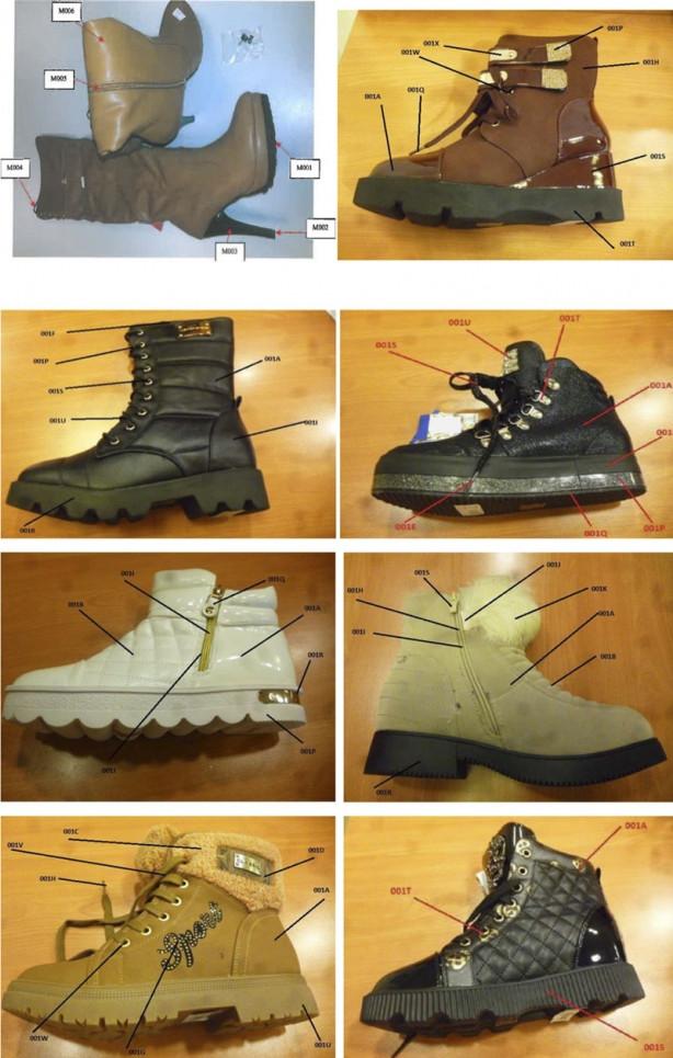 """Bakanlık, """"kanserojen ayakkabıların"""" fotoğraflarını paylaştı"""