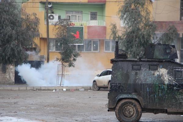 Silopi'de olaylı kobani protestosu