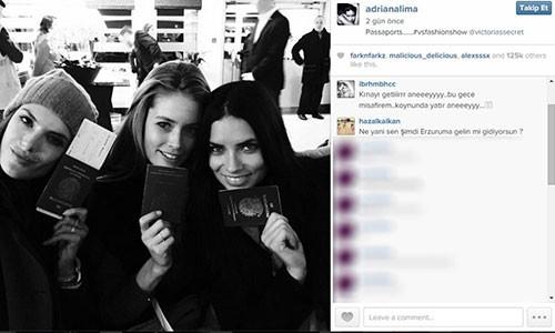 Adriana Lima Instagram'da yenge oldu