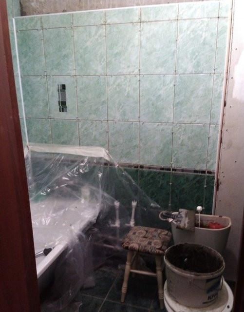 Annesi için banyosunu baştan yarattı!
