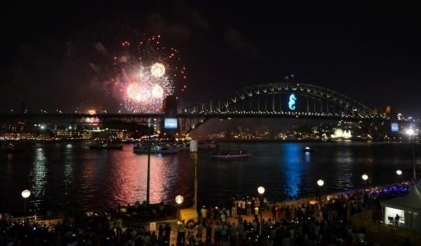 Sidney'de yeni yılı karşıladı!