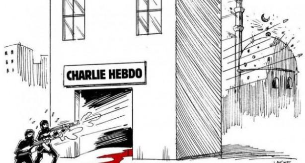 Charlie Hebdo için çizdiler!