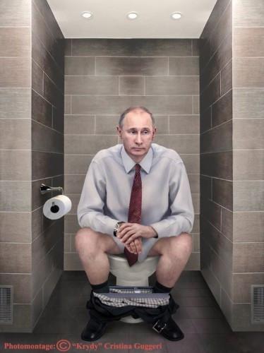 Dünya liderleri tuvalette görüntülenirse