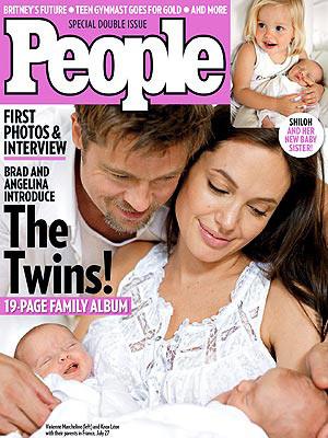 İşte Anjelina Jolienin ikizleri