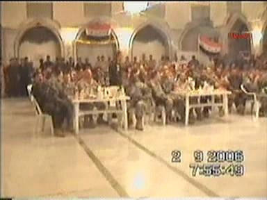 Saddamın sarayında alem