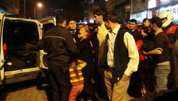 Suriyeli aileler birbirine girdi