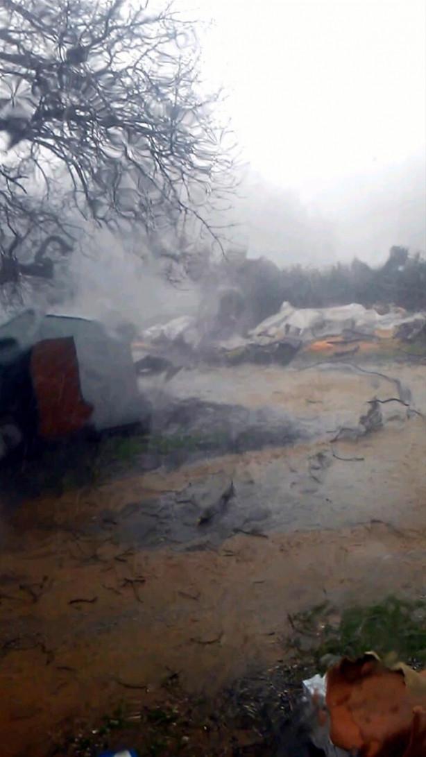 Marmaris'te hortum büyük hasara neden oldu
