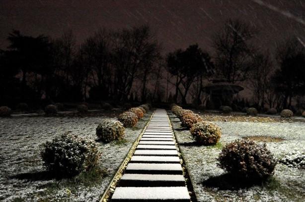 Beklenen kar yağışı geldi
