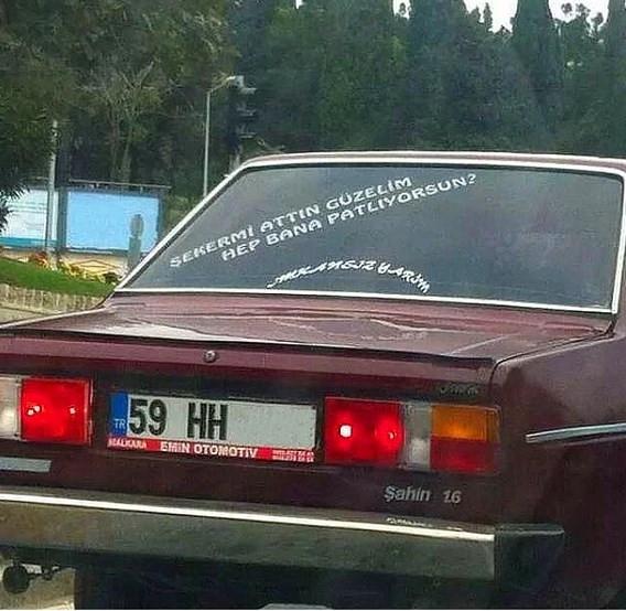 En ilginç araba yazıları