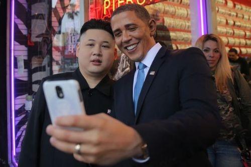 Obama ile Kuzey Kore lideri fotoğraf çekildi