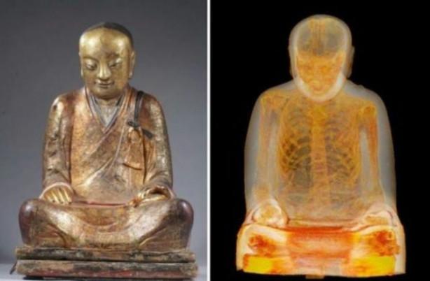 1000 yıllık heykelin içinden...