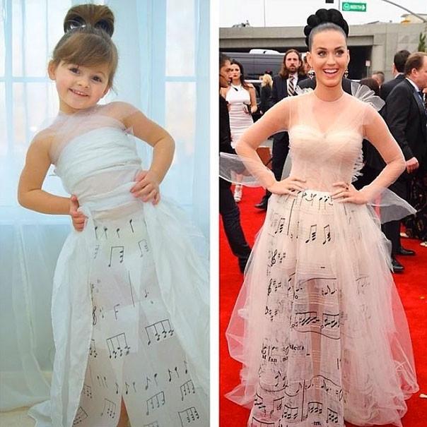 5 yaşında kendi kıyafetlerini tasarlıyor
