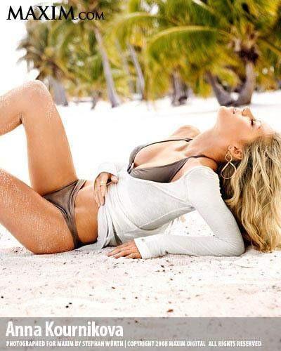 Anna Kournikova Maxim dergisine poz verdi