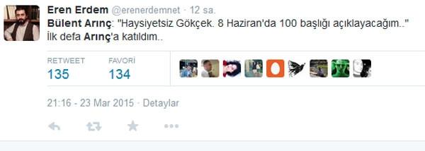 Bülent Arınç'ın sözleri twitter'i salladı