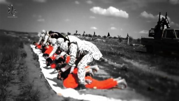 IŞİD 8 Şİİ'nin kafasını kesti!
