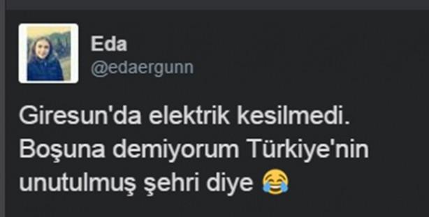 Sosyal medyada elektrik kesintisi