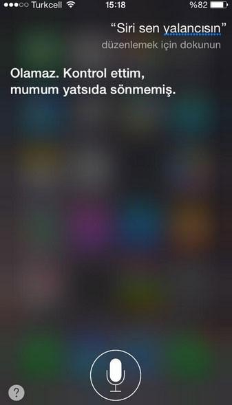 Türklerin Siri ile imtihanı
