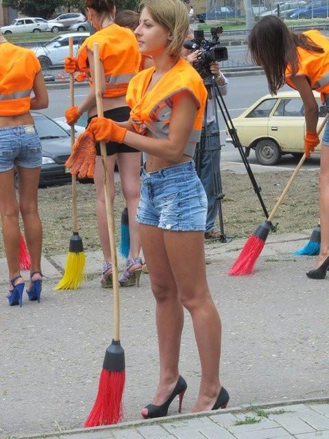 Ukrayna'nın kadın temizlikçileri