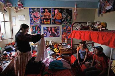 Bolivyalı kadınların kanlı ritüeli