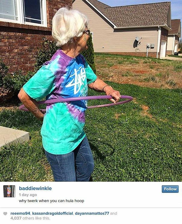 86'lık Instagram fenomeni: Baddie Winkle
