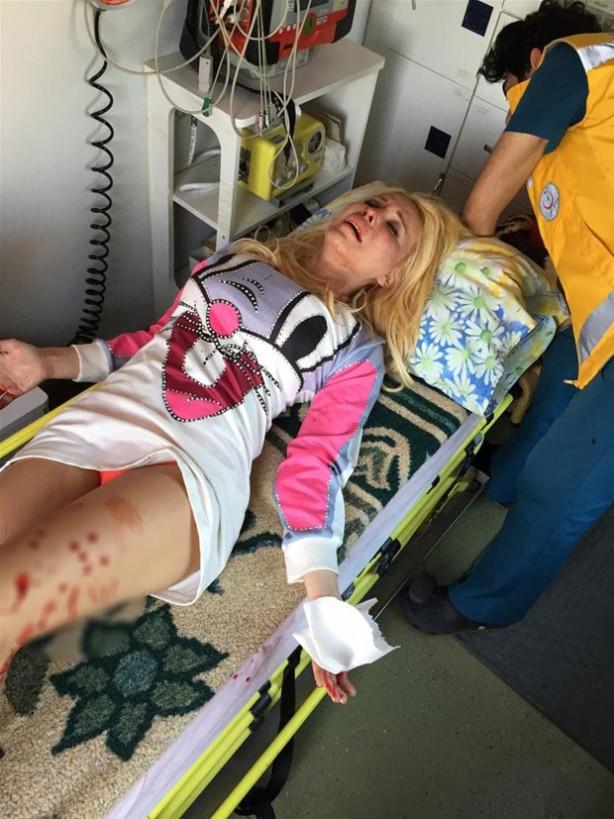Cicişler Denizli'de kaza geçirdi
