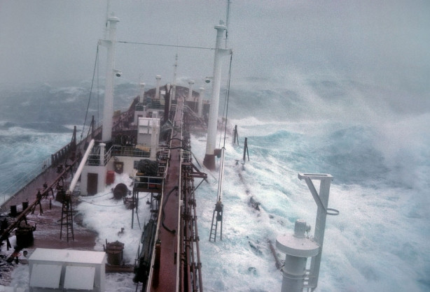 Denizde felaket anları