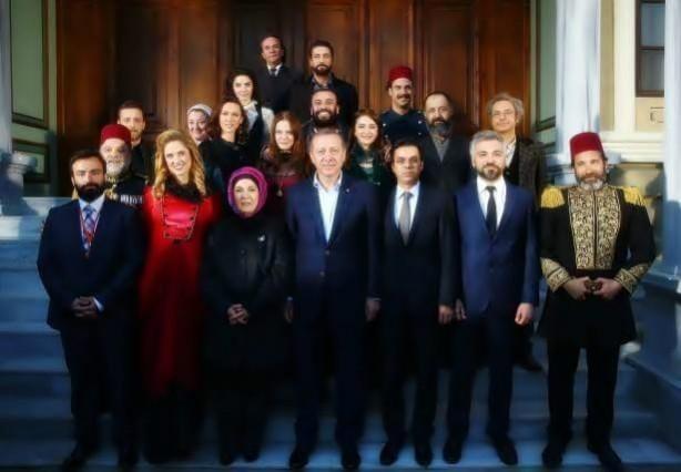 Cumhurbaşkanı Recep Tayyip Erdoğan Filinta setinde