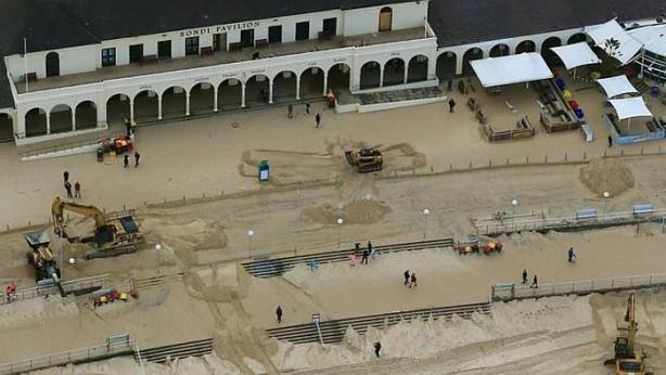 Plajdaki kumlar kaldırılınca...