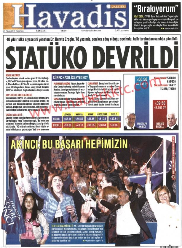 KKTC basını seçim sonuçlarını nasıl gördü