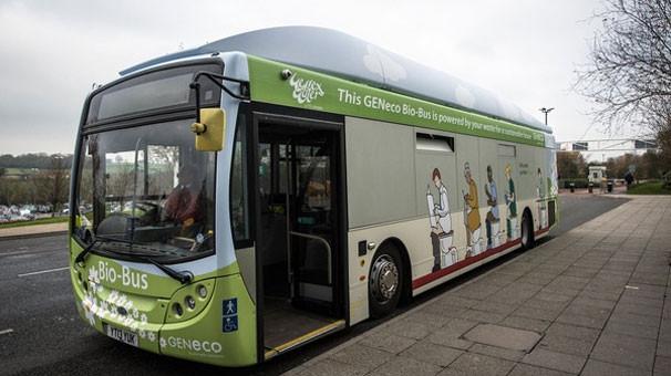 İnsan dışkısıyla çalışan otobüs yola çıktı