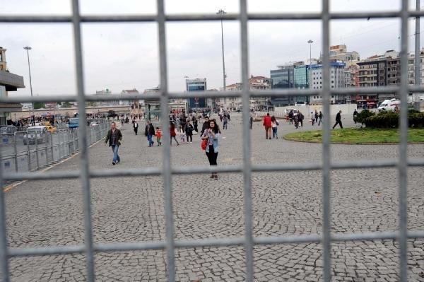 Taksim'de 1 Mayıs hazırlıkları