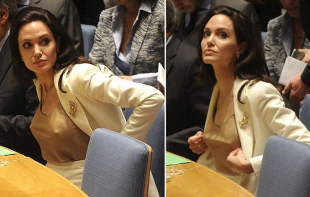 BM toplantısına sütyensiz gitti