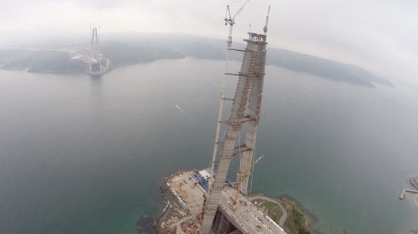 3. köprünün Asya yakası kısmına 2. çelik tabliye