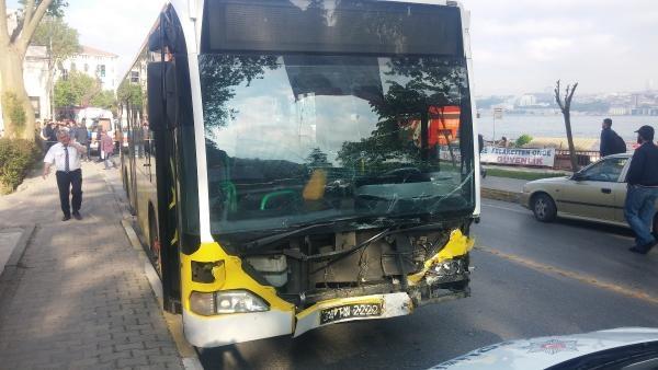 İETT otobüsü ile otomobil kafa kafaya çarpıştı: 1 ölü, 1 ağır yaralı