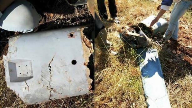 Suriye Türkiye'nin düşürdüğü hava aracının fotoğraflarını paylaştı