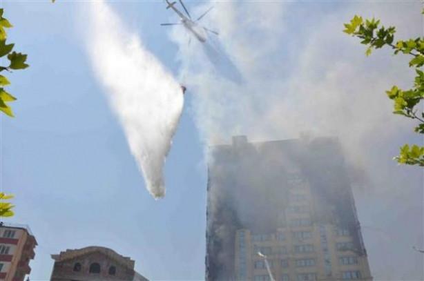 Bakü'de büyük yangın
